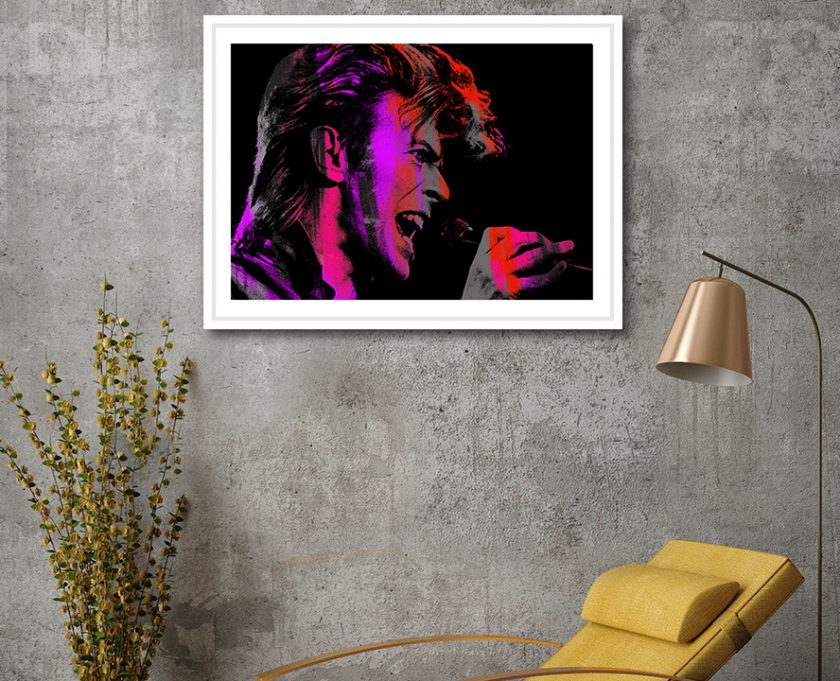 Singing Bowie Pink Med White Framed 425