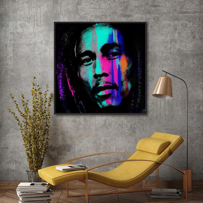 Bob Marley Large on Canvas