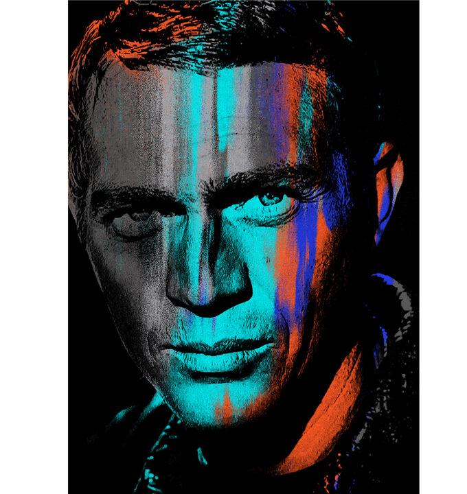 Steve McQueen blue