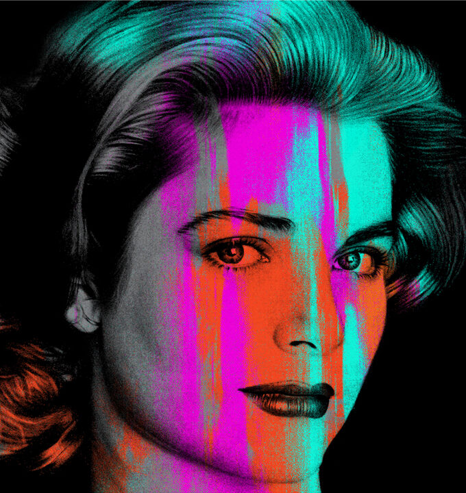 Grace Kelly Blue Square