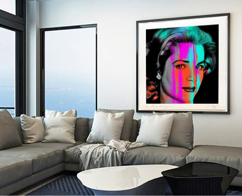 Grace Kelly displayed on wall