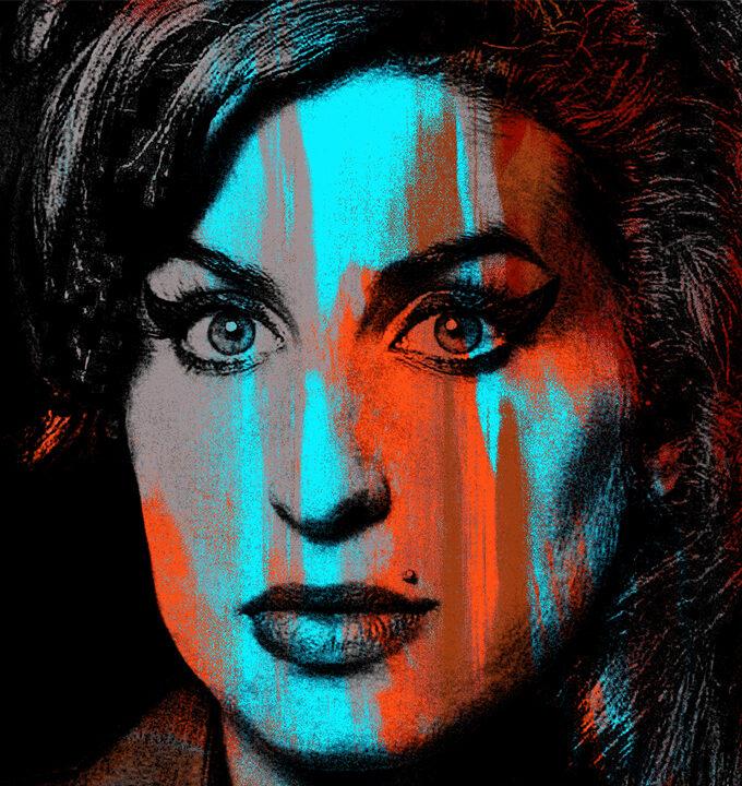 Orange Amy Winehouse