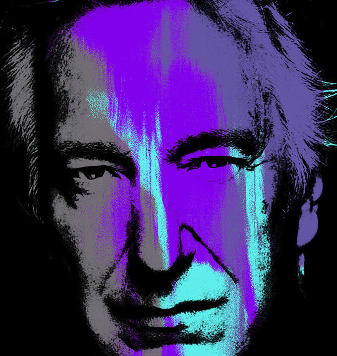 Alan Rickman Purple