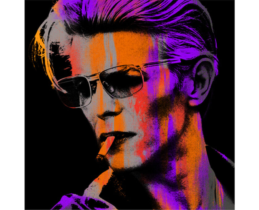 Orange Young Bowie print