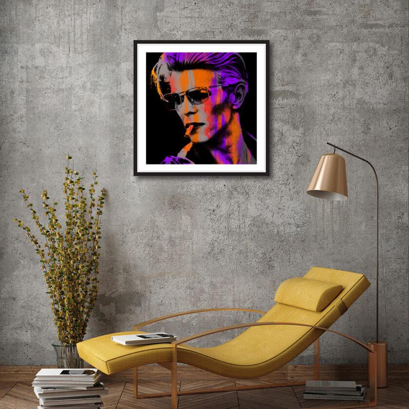 Orange young Bowie Med in black frame